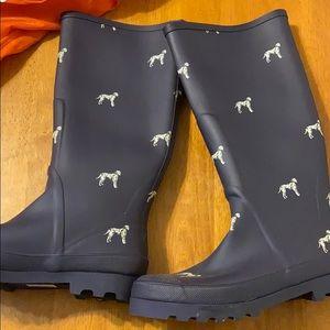 J Crew knee high rain boots